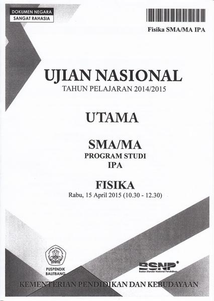 Achmad Sundoro Soal Ujian Nasional Sma 2014 2015